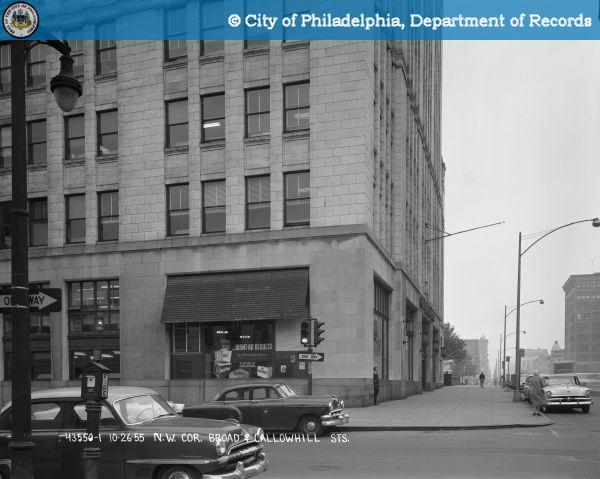Northwest Corner Broad and Callowhill Streets..