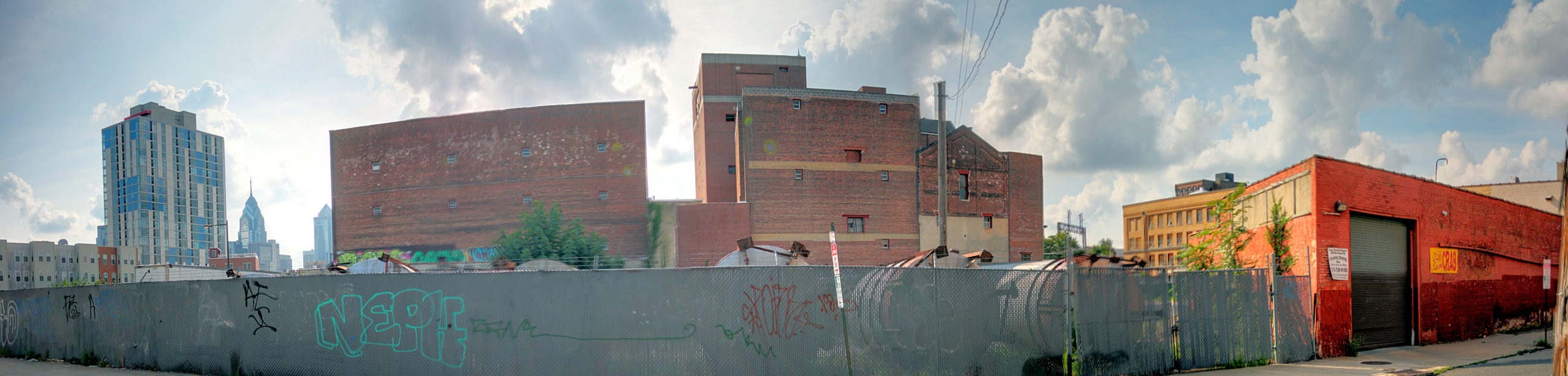Esslinger's Brewery Complex View from 401 N 9th St Philadelphia, PA Copyright 2019, Bob Bruhin. All rights reserved.
